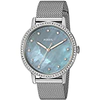 Fossil Women's Quartz Watch analog Display and Stainless Steel Strap, ES4313