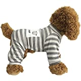 EastCities Dog Clothes for Small Dogs Puppy Pajamas Outfit,Grey XL