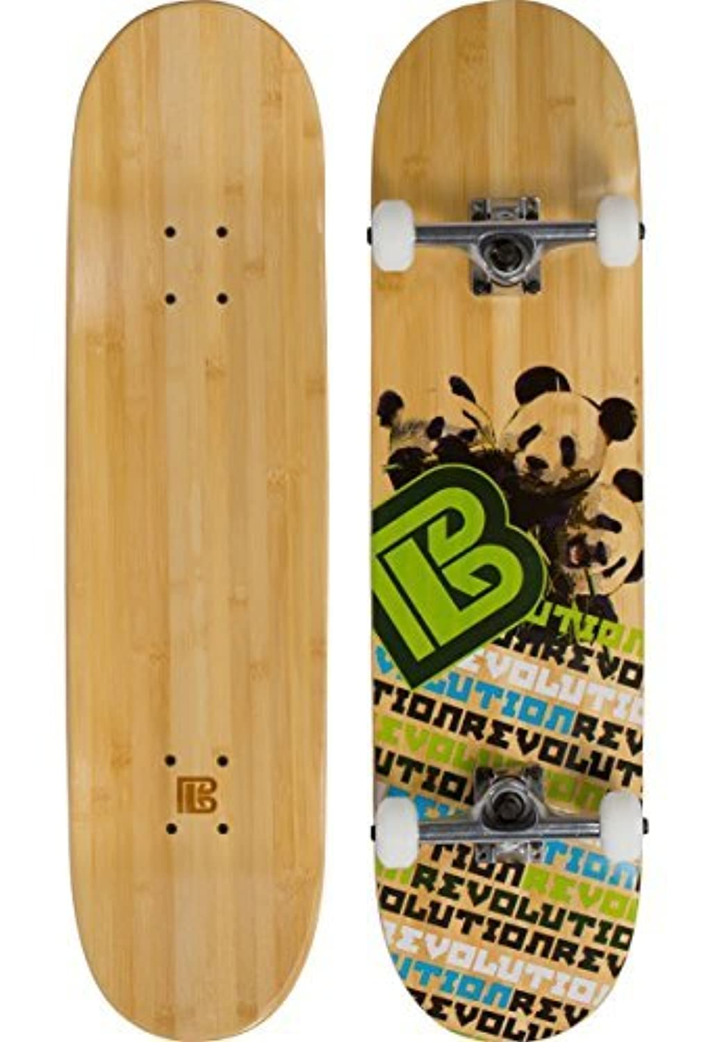 Bamboo Skateboards Hard Good Panda Revolution Short Board Complete 8 Natural [並行輸入品]