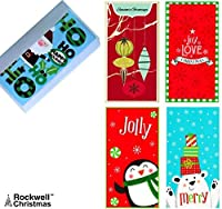 Set of 12 Christmas Money Card Holders: Assortment of Holiday Cards with Envelopes, to Hold Checks, Cash, Gift Cards (Free Bonus Gift Tin)