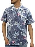 [ルーシャット] アロハシャツ コットン 裏使い 総柄プリントシャツ 柄B M