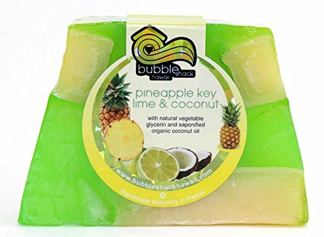 とても多くのネット樹皮ハワイ お土産 ハワイアン雑貨 バブルシャック パイナップル チャンクソープ 石鹸 (ライムココナッツ) ハワイ雑貨