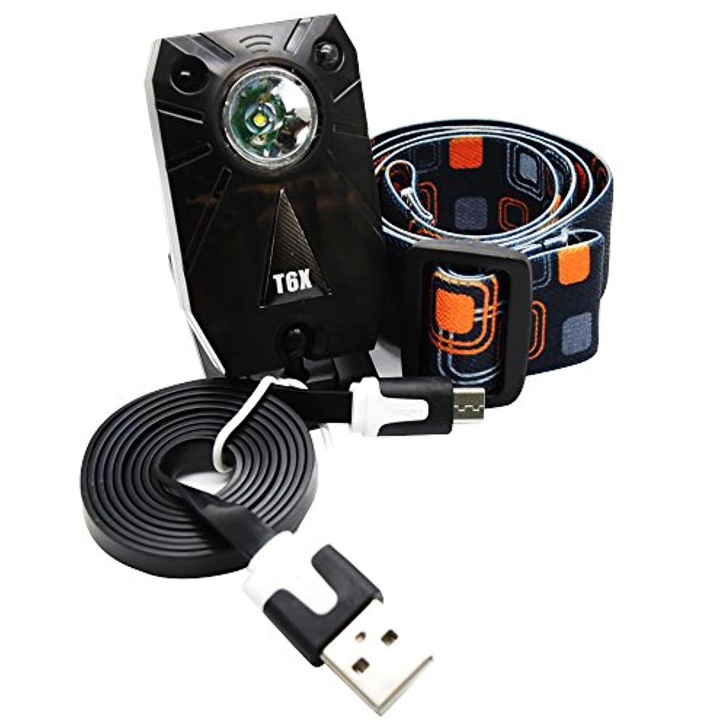 アトミック泣いている合法TradeArch 充電式 LED ヘッドライト 明るい センサー機能有 小型 軽量 360°回転