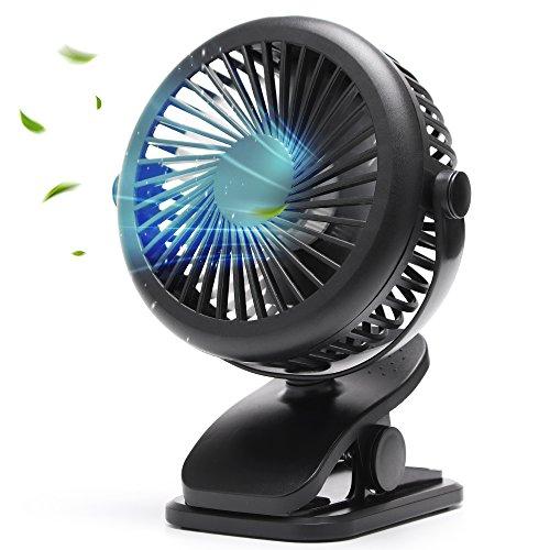 USB扇風機 卓上扇風機 クリップ 小型 超静音 強力 風量3...