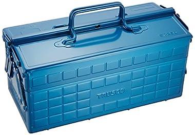 TRUSCO(トラスコ) 2段式ツールボックス ブルー W350xD160xH215W350 ST350-B