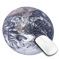 マウスパッド デスクマット ゲーム用 事務所机用 パソコンマット レーザー 光学式マウス対応 ゲーミングマウスパッド 地球 滑り止め 防水 耐久性 疲労軽減 個性 丸いマPCマット