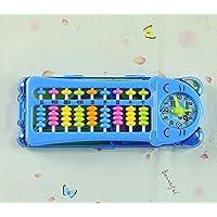 幼児期のゲーム 9個のビード12 1列目のマルチファンクションラーニングツールボックスの3列カウンタコンピューティングラック(ブルー)