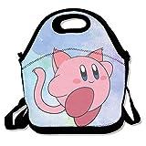 bakeiy Kaby Catランチトートバッグランチボックスネオプレントートバッグfor Kids for旅行、ピクニック大人の学校