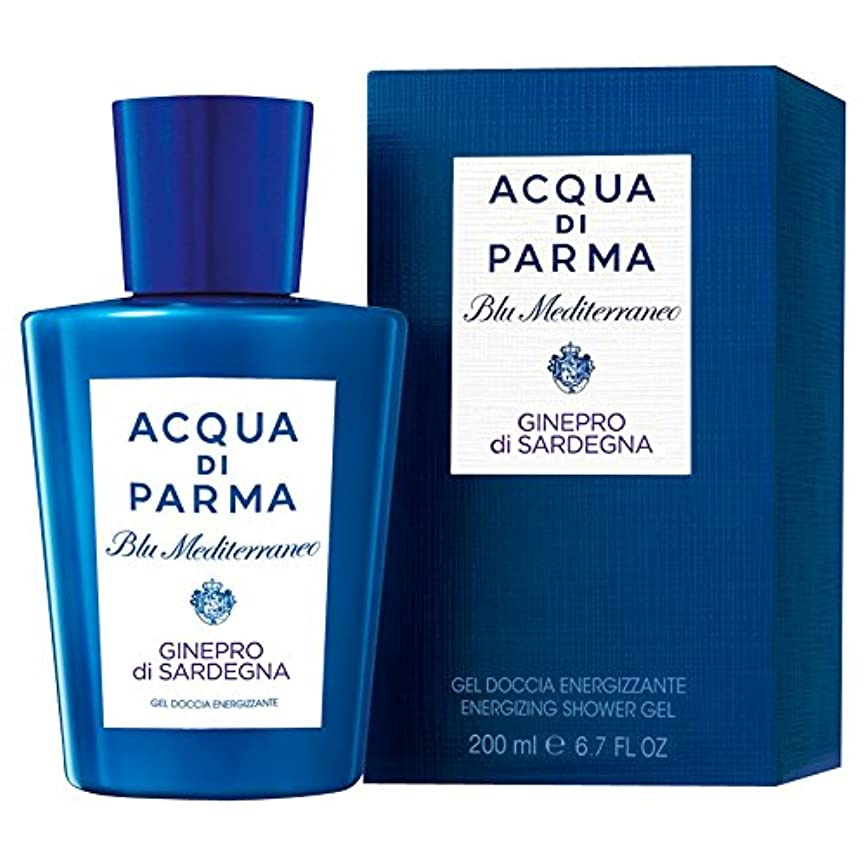 傾いた考えるシンクアクア?ディ?パルマブルーメディGineproのディサルデーニャシャワージェル200ミリリットル (Acqua di Parma) - Acqua di Parma Blu Mediterraneo Ginepro Di...