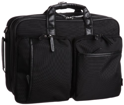 [マンハッタンエクスプレス] MANHATTAN EXP. ポリエステル製ビジネスバッグ 3wayバッグ 53-80251 ブラック (ブラック)