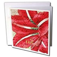 PSビンテージ–ビンテージAmaryllis with (_)花柄アート–グリーティングカード Set of 12 Greeting Cards