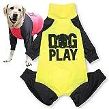 犬猫の服 full of vigor ドッグプレイ(R)プリントラッシュガード 大型犬用 カラー 8 イエロー サイズ B2L Tシャツ ロンパース オールインワン つなぎ フルオブビガー