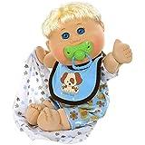 "Cabbage Patch Kids 12.5"" Naptime Babies - Blonde Hair/Blue Eye Boy Baby Doll (Dog Jumper Fashion)"