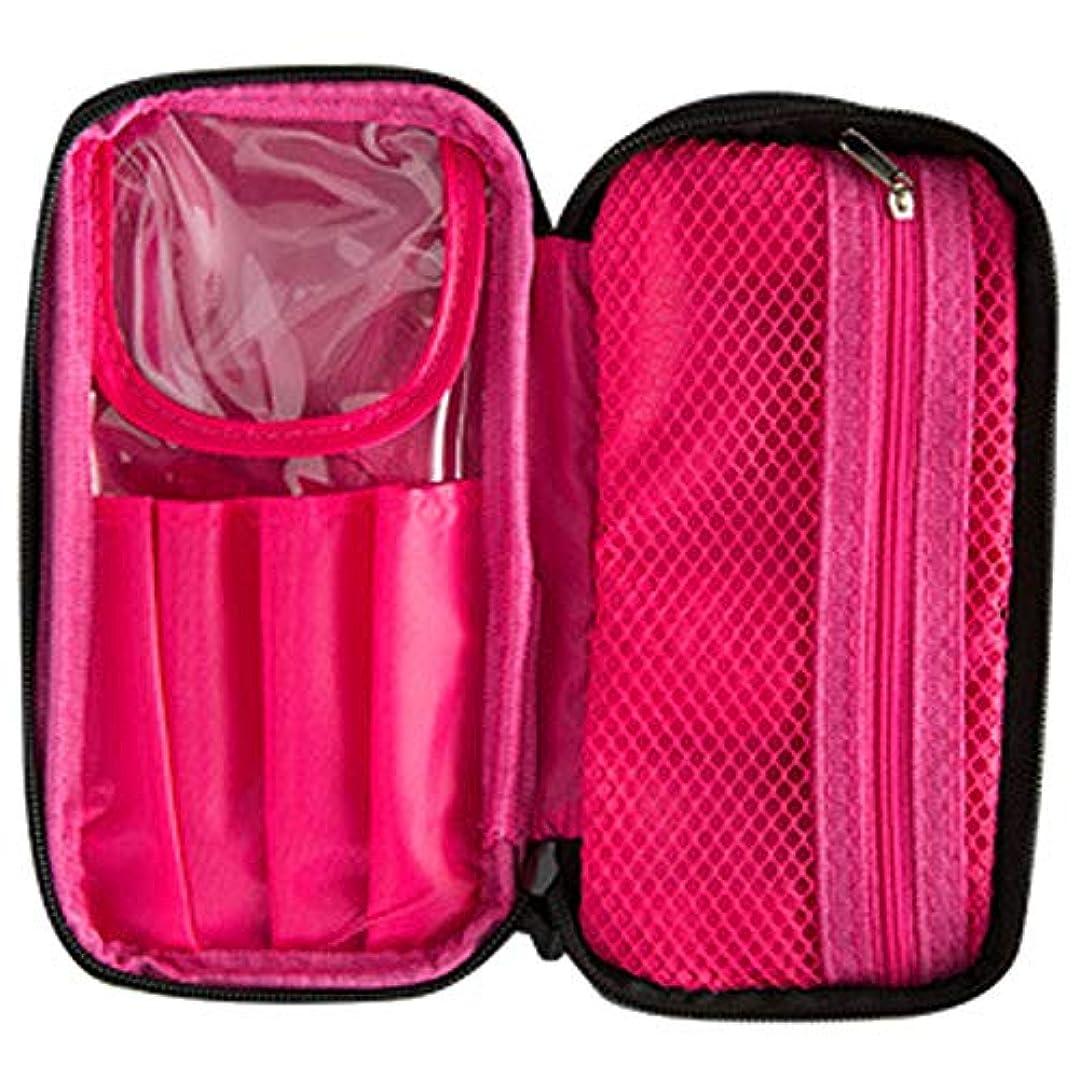 マットレス和協力的[RADISSY] コスメポーチ 大容量 化粧ポーチ メイクポーチ 持ち運び 可愛い ブラシケース付 (内ピンク)