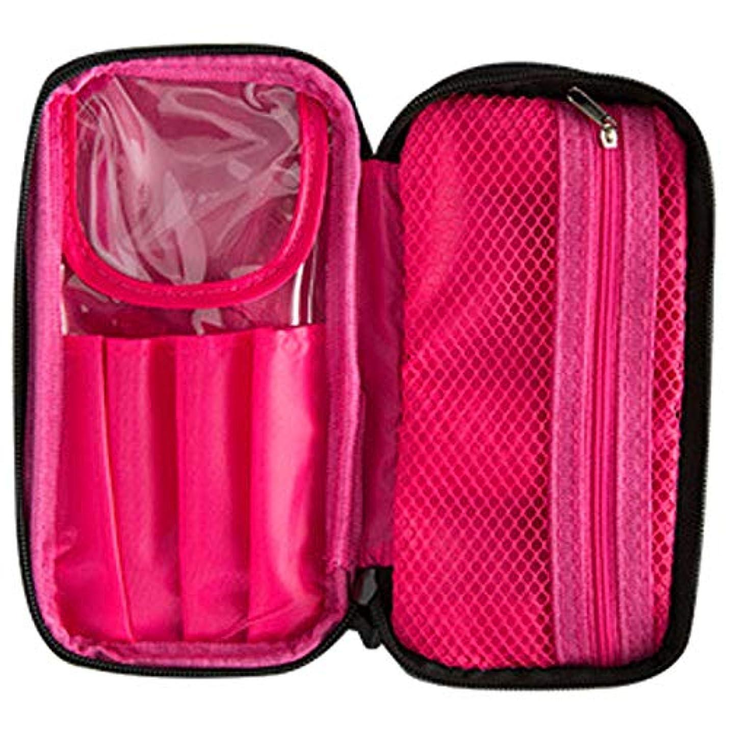 [RADISSY] コスメポーチ 大容量 化粧ポーチ メイクポーチ 持ち運び 可愛い ブラシケース付 (内ピンク)