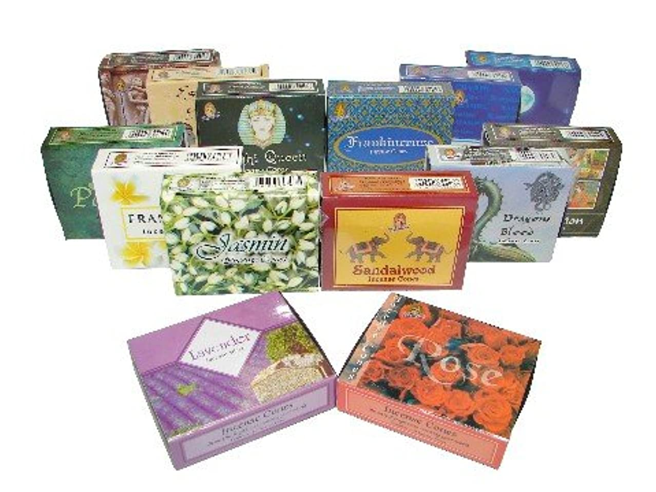 欠伸いいね温帯2 Boxes of Cone Incenses-Jasmine