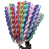ラテックススパイラル バルーン混色50パック カラフル パーティー小物 飾り 屋外 誕生日 パーティ 文化祭やハロウィン 装飾 風船
