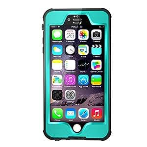 【IVSO】iphone 7 4.7インチ防水ケース PC+TPU 防水規格IP68取得 防塵 落下防止 ランニング、登山などスポーツ型のスマートホン袋及び海水浴,川遊び,水泳,温泉,お風呂,スキー,スノボ, アウトドア等対応 apple iPhone 7用 多機能保護ケース(防水ケース,ブルー)