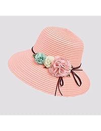 YXI 女性の麦わら帽子   ビーチ ホリデー 折りたたみ可能   アダルト サンハット (色 : D)
