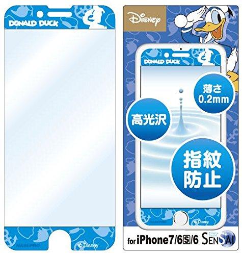 ディズニーキャラクター 液晶保護シール 指紋防止 iPhon...