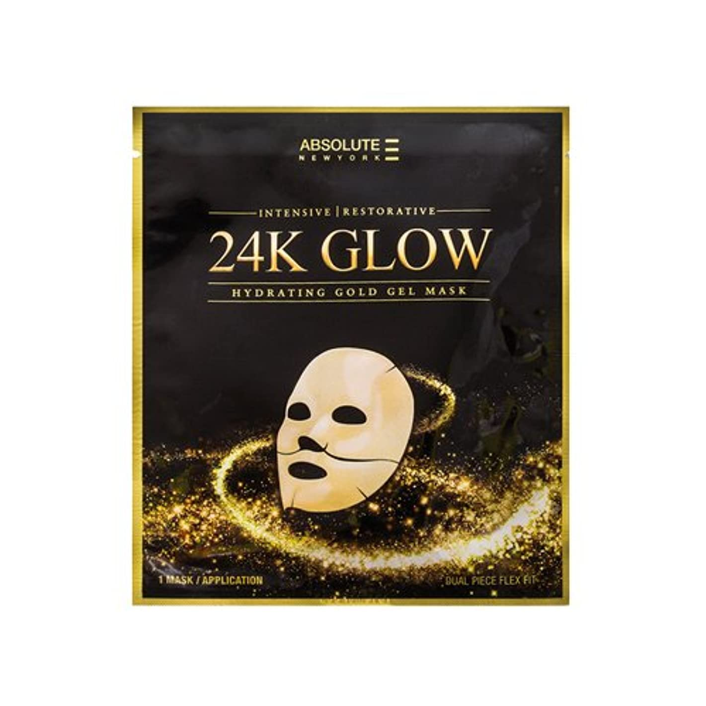 講堂作りミネラル(3 Pack) Absolute 24K Glow Gold Gel Mask (並行輸入品)