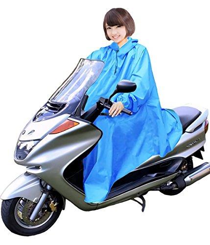 男女兼用 バイク 自転車 スクーター 用 レインコート ポン...