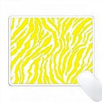 黄色と白のシマウマプリント PC Mouse Pad パソコン マウスパッド