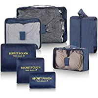 Newdora Travel Organizer Packing Bags 7 Sets Luggage Organizer Travel Storage Bags Perfect Storage Bags for Clothes Suitcase Shoes