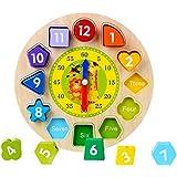 CCINEE 木製 時計おもちゃ ラーニングクロック 学習時計 1個セット