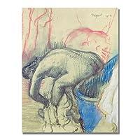 Trademark Art After Bath 1903 キャンバスアート Edgar Degas 18 by 24-Inch BL0858-C1824GG