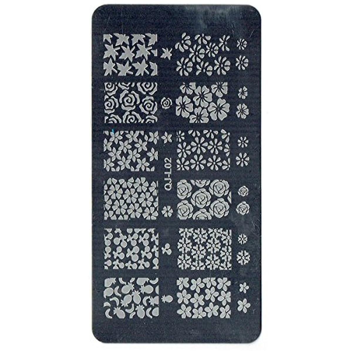 ナビゲーションかわすを通して[MG]エムジー 全18種 スタンピングネイルプレート<TYPE-C> スタンピングネイル スタンプネイル プレート (#02)