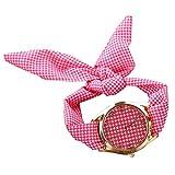 PolytreeレディースGirl 's花柄布バンドフラワードレスクォーツ腕時計(タイプ19)