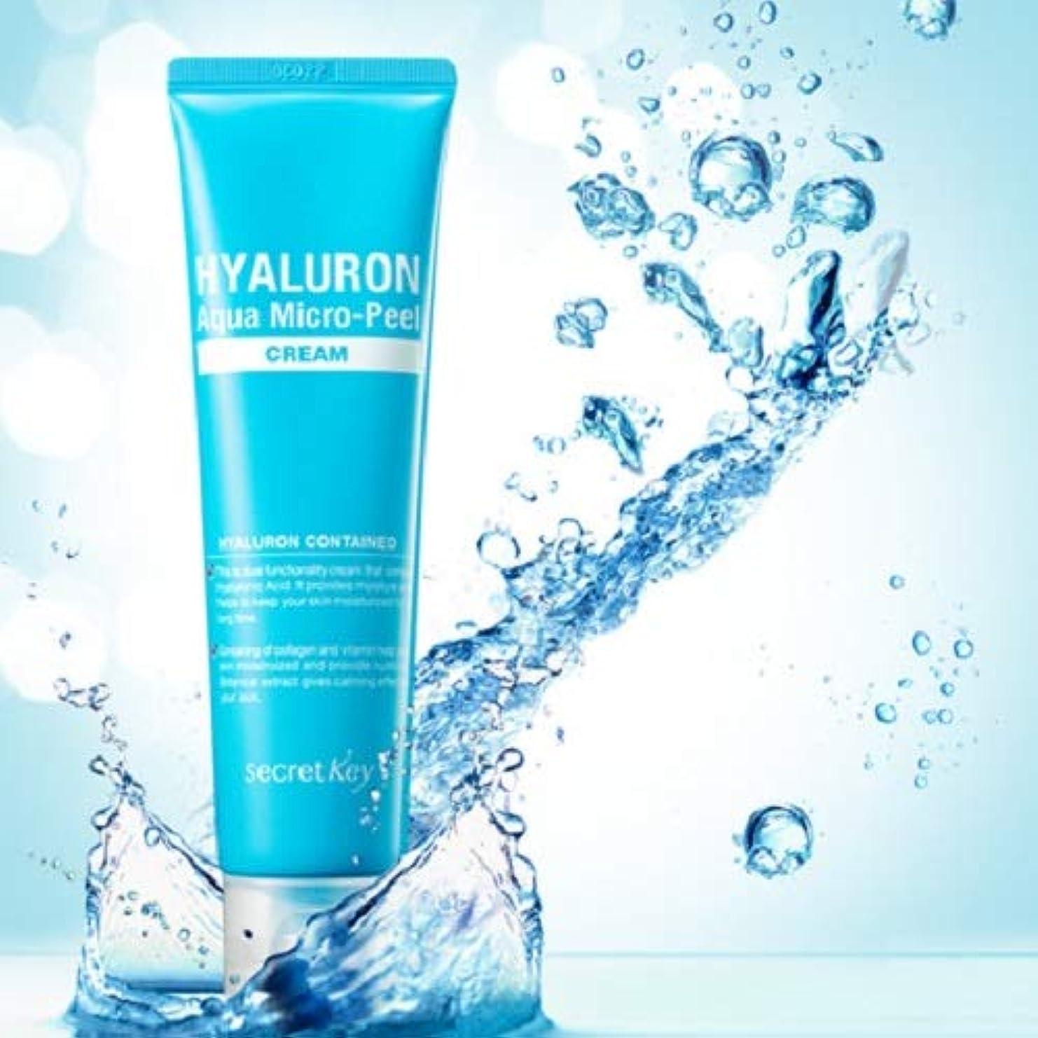 調和特異性養うSecret Key Hyaluron Aqua Micro Peel Cream 70g/Deep Moisturizing Cream/Korea cosmetics [並行輸入品]