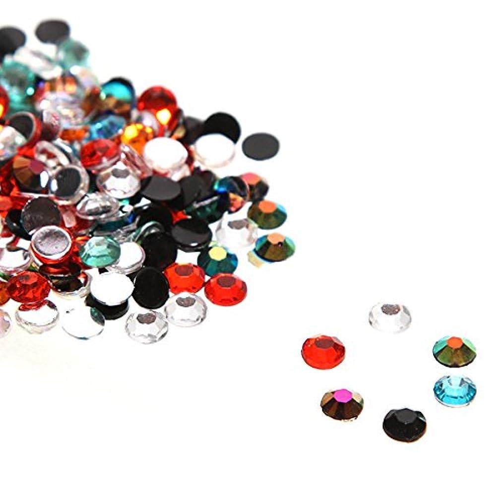 リフレッシュ前提条件神秘的な大量 全色ミックス アクリル製 ラインストーン(サイズ選択可能)【ラインストーン77】 (4mm(800粒))