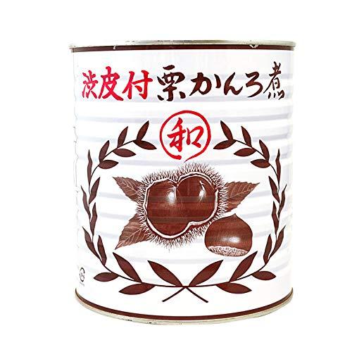 マロン 栗渋皮付甘露煮 1号缶 1級 M3サイズ 米田青果食品 3500g__