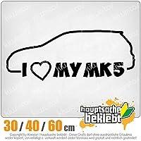 KIWISTAR - I Love my MK5 15色 - ネオン+クロム! ステッカービニールオートバイ