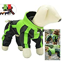 BTFirstペット犬服雨雪コート防水レインコート4足レインコート用小中大型犬