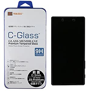 NEWLOGIC 【Sony Xperia Z5 premium 】 C-Glass 0.3mm 保護ガラス (硬度 9H) 液晶保護 フィルム/SO-03H 【 Xperia Z5 premium 用 (docomo) 】 (前面)