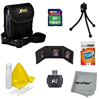 10pc Starter Accessory Kit for Nikon Coolpix L19 L20 L22 L23 L24 L26 L27 L28 L30 L620 Digital Cameras - Includes: 8 GB Memory Card and Card Reader Protective Digital Camera Carrying Case Mini Tabletop Tripod Memory Card Wallet Lens Cleaning F [並行輸入品]