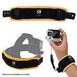 2イン1 フローティングリストストラップ & ヘッドストラップフローター ―  GoPro Hero 4, Session, Black, Silver, Hero+ LCD, 3+, 3, 2, 1用 ― カメラが沈むことを防ぐ ― 手首に巻きつける、またはヘッドストラップに取り付ける
