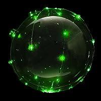 MRG 光る風船 NEON TAIL ネオンテール 膨らました状態でお届け すぐに使える ヘリウムガス入り 電池付き ウェディング バースデー パーティ LED イルミネーション バルーン (単色グリーン×2)