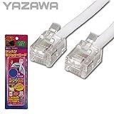 折り曲げクセがつきにくいからキレイに配線できる YAZAWA(ヤザワ) ストレートモジュラーケーブル 15m 6極2芯/4芯 TP1150W [並行輸入品]