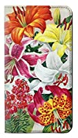 JPW3205P2P レトロ花 Retro Art Flowers Huawei P20 Pro フリップケース