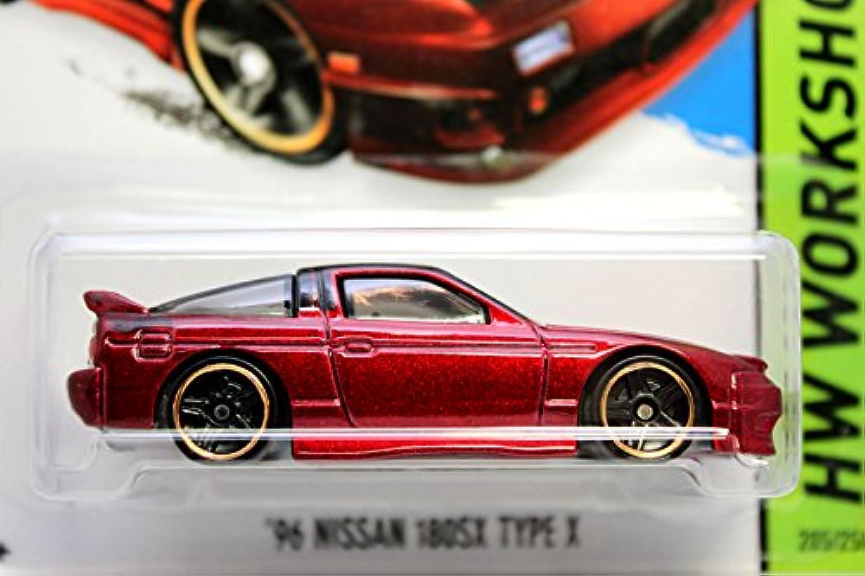 ホットウィール 2015 #205 '96 ニッサン 180SX タイプ X Maroon Red Metallic [並行輸入品]