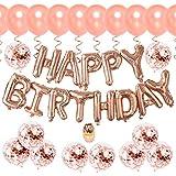 誕生日飾り付け ゴールド パーティーデコレーションhappy birthdayバルーンシャンパンカラー 紙吹雪入れ 子供 大人 誕生日 100日 半歳 一歳 誕生日お祝いパーティー飾り 部屋装飾