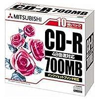 ==業務用10セット== 三菱化学メディア・CD-R・<700MB>・SR80PP10・10枚