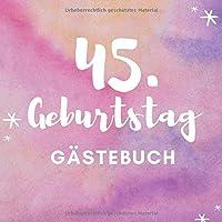 45. GEBURTSTAG GAeSTEBUCH: Gaestebuch QUADRATISCH punktiert Geschenk zum 45. Geburtstag | Geburtstagsgeschenk | Gaestebuch | Geburtstagsfeier | Fuenfundvierzigster | Freunde