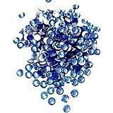 【ネイルウーマン】最高品質ガラスストーン!スワロ同等の輝き! ライトサファイア ブルー 水色 (約100粒入り) (ライトサファイア) (SS3, ライトサファイア)