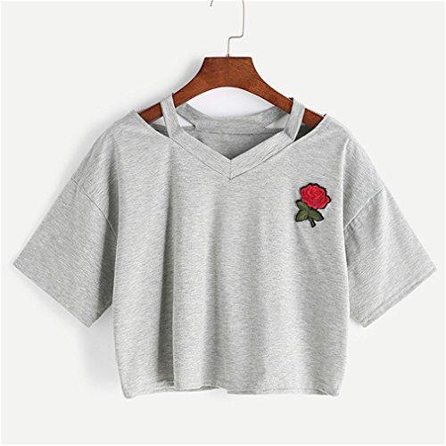 LZROL Tシャツ 短い シンプル レデイース  カジュア...