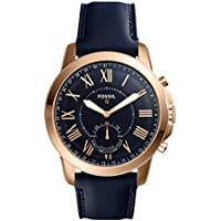 Fossil Men's Q Grant Hybrid Smartwatch Blue Watch, (FTW1155)